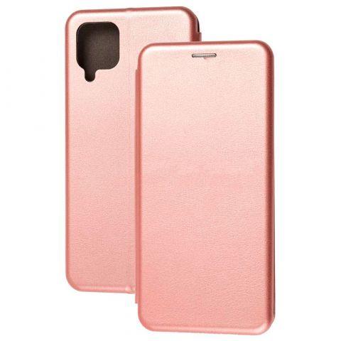 Чехол-книжка для Samsung Galaxy A12 (A125) Premium-Rose Gold