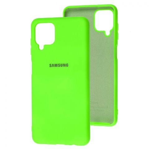 Силиконовый чехол для Samsung Galaxy A12 (A125) Silicone Full-Lime