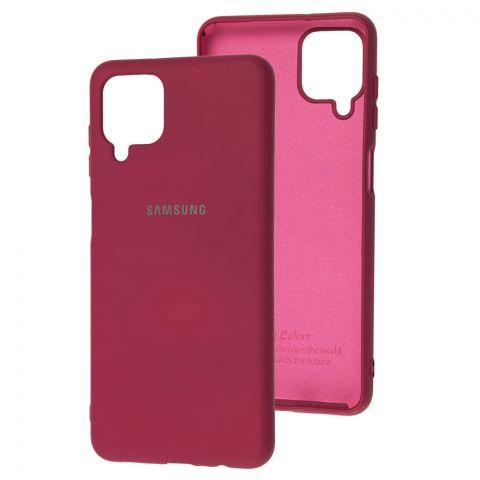 Силиконовый чехол для Samsung Galaxy A12 (A125) Silicone Full-Marsala