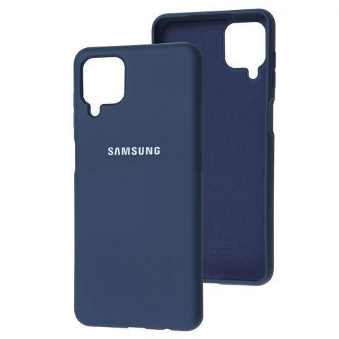Силиконовый чехол для Samsung Galaxy A12 (A125) Silicone Full-Midnight Blue