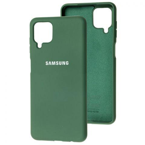 Силиконовый чехол для Samsung Galaxy A12 (A125) Silicone Full-Pine Green