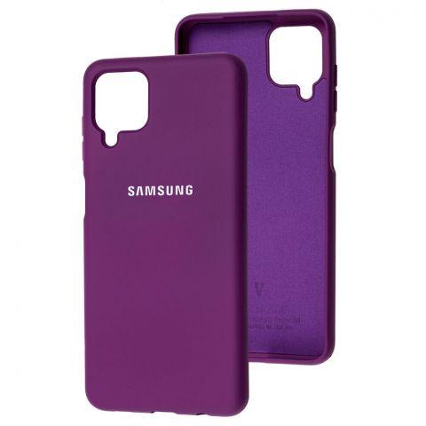 Силиконовый чехол для Samsung Galaxy A12 (A125) Silicone Full-Purple