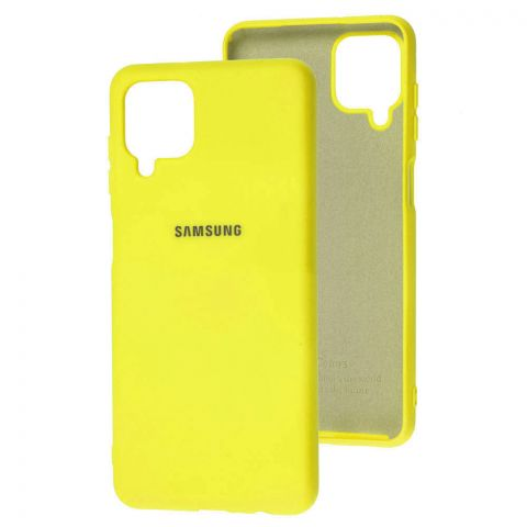 Силиконовый чехол для Samsung Galaxy A12 (A125) Silicone Full-Yellow