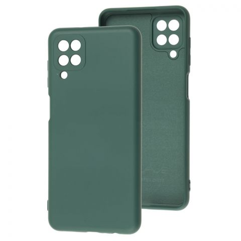 Силиконовый чехол для Samsung Galaxy A12 (A125) Wave Colorful-Forest Green