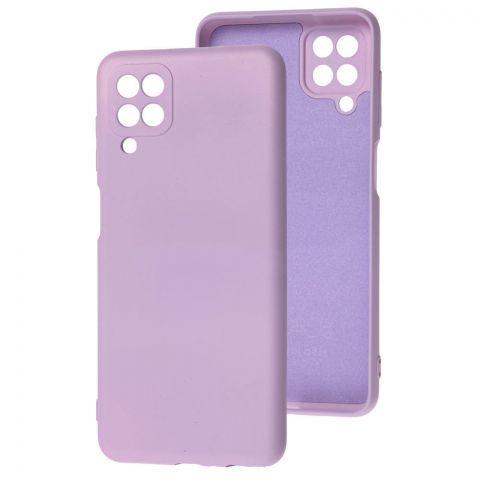 Силиконовый чехол для Samsung Galaxy A12 (A125) Wave Colorful-Light Violet