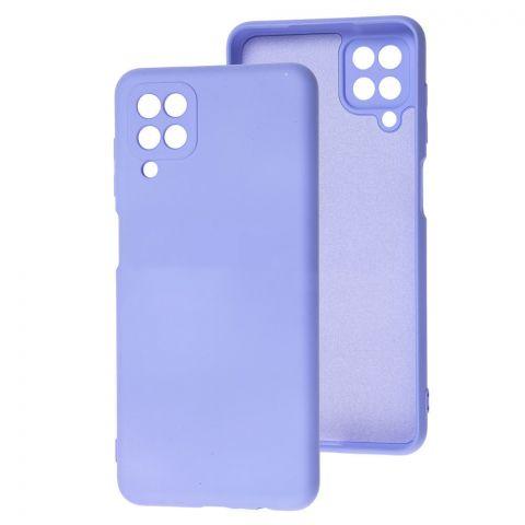 Силиконовый чехол для Samsung Galaxy A12 (A125) Wave Colorful-Lilac Blue