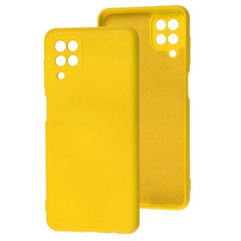Силиконовый чехол для Samsung Galaxy A12 (A125) Wave Colorful-Yellow