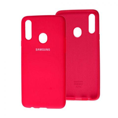 Чехол для Samsung Galaxy A20s (A207) Silicone Full-Rose Red