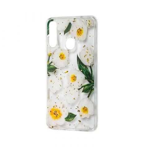 Чехол для Samsung Galaxy A20s (A207) Wave конфети-White