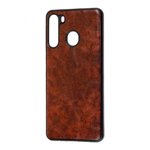 Чехол для Samsung Galaxy A21 (A215) Lava Line-Dark Brown