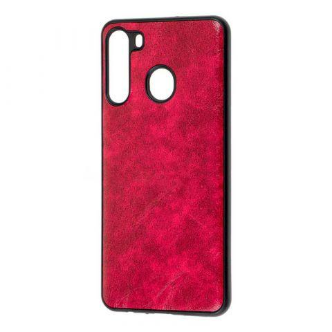Чехол для Samsung Galaxy A21 (A215) Lava Line-Red Raspberry