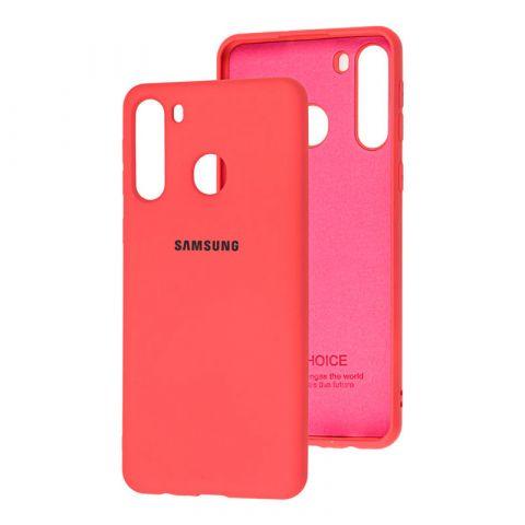 Чехол для Samsung Galaxy A21 (A215) Silicone Full-Coral
