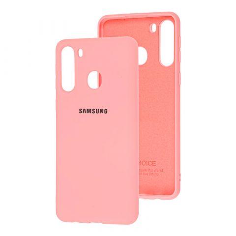 Чехол для Samsung Galaxy A21 (A215) Silicone Full-Light Pink