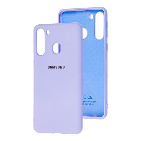 Чехол для Samsung Galaxy A21 (A215) Silicone Full-Light Violet