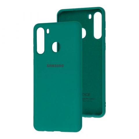 Чехол для Samsung Galaxy A21 (A215) Silicone Full-Pine Green