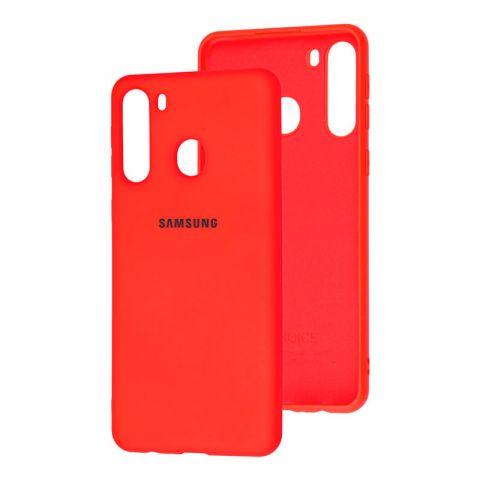 Чехол для Samsung Galaxy A21 (A215) Silicone Full-Red