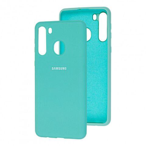 Чехол для Samsung Galaxy A21 (A215) Silicone Full-Turquoise