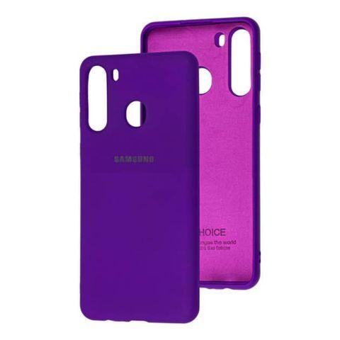 Чехол для Samsung Galaxy A21 (A215) Silicone Full-Ultra Violet