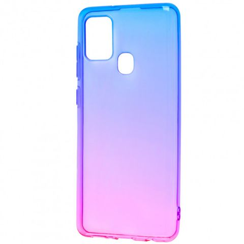 Силиконовый чехол для Samsung Galaxy A21s (A217) Gradient Design-Pink/Blue
