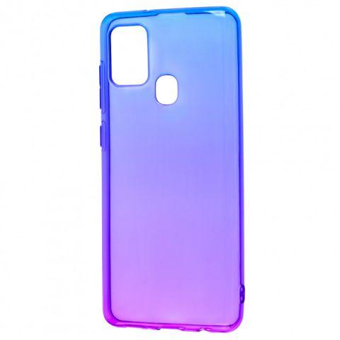 Силиконовый чехол для Samsung Galaxy A21s (A217) Gradient Design-Violet/Blue