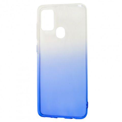 Силиконовый чехол для Samsung Galaxy A21s (A217) Gradient Design-White/Blue