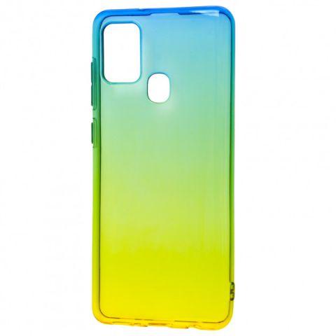 Силиконовый чехол для Samsung Galaxy A21s (A217) Gradient Design-Yellow/Green
