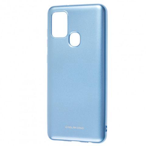 Чехол для Samsung Galaxy A21s (A217) Molan Cano глянец-Light Blue