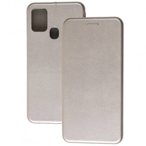 Чехол-книжка для Samsung Galaxy A21s (A217) Premium-Gray