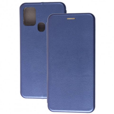 Чехол-книжка для Samsung Galaxy A21s (A217) Premium-Midnight Blue