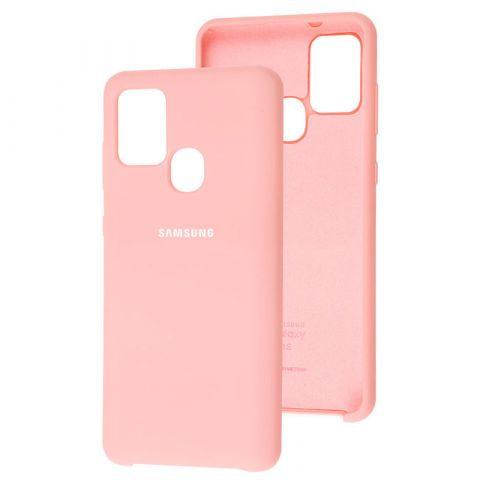 Чехол для Samsung Galaxy A21s (A217) Soft Touch Silicone Cover-Light Pink