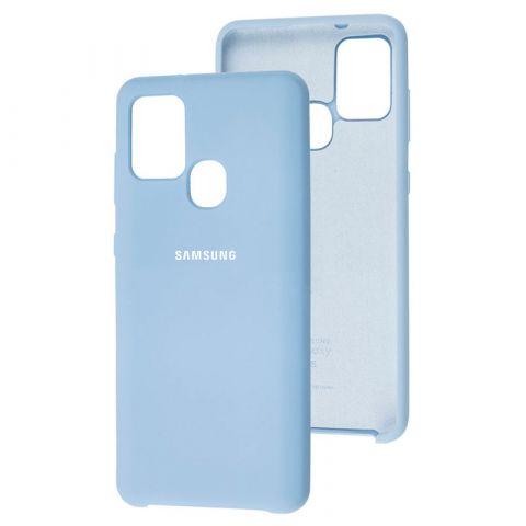 Чехол для Samsung Galaxy A21s (A217) Soft Touch Silicone Cover-Lilac