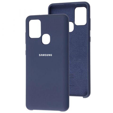 Чехол для Samsung Galaxy A21s (A217) Soft Touch Silicone Cover-Midnight Blue