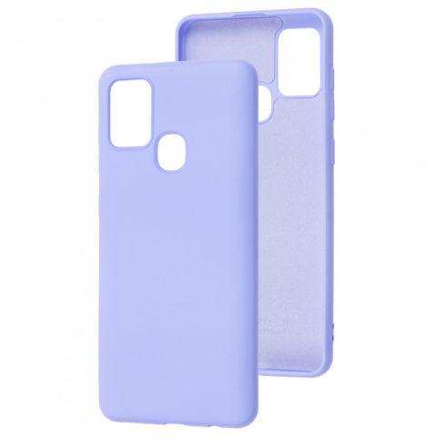 Чехол для Samsung Galaxy A21s (A217) Wave Color Full-Light Violet
