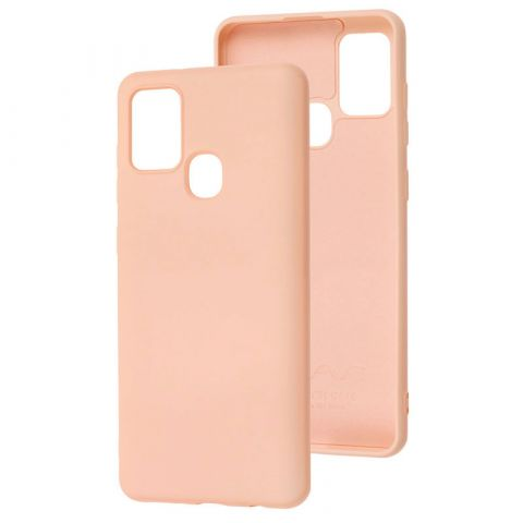 Чехол для Samsung Galaxy A21s (A217) Wave Color Full-Pink Sand