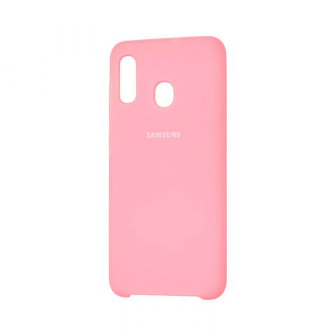 Чехол для Samsung Galaxy A30 (A305) Soft Touch Silicone Cover-Light Pink