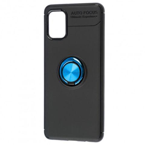Чехол для Samsung Galaxy A31 (A315) Deen ColorRing с кольцом-Black/Blue