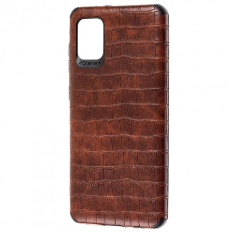Чехол для Samsung Galaxy A31 (A315) Epic Vivi Crocodile-Dark Brown