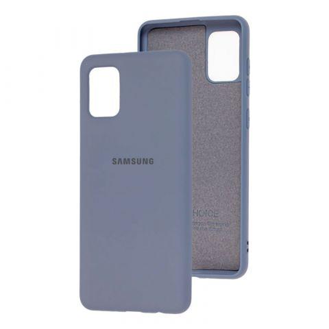 Чехол для Samsung Galaxy A31 (A315) Silicone Full-Lavender Gray