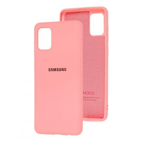 Чехол для Samsung Galaxy A31 (A315) Silicone Full-Light Pink