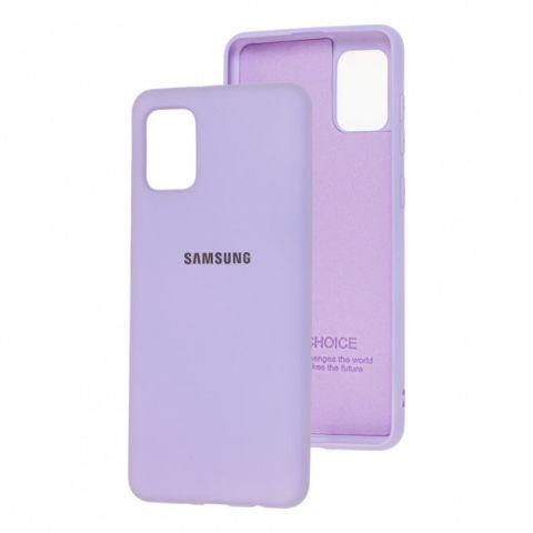 Чехол для Samsung Galaxy A31 (A315) Silicone Full-Light Violet