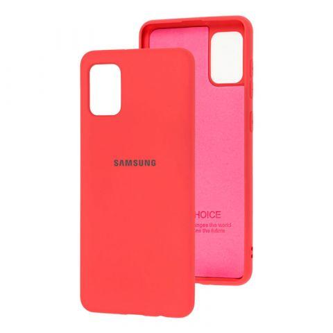 Чехол для Samsung Galaxy A31 (A315) Silicone Full-Marsala