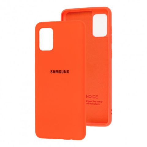 Чехол для Samsung Galaxy A31 (A315) Silicone Full-Orange