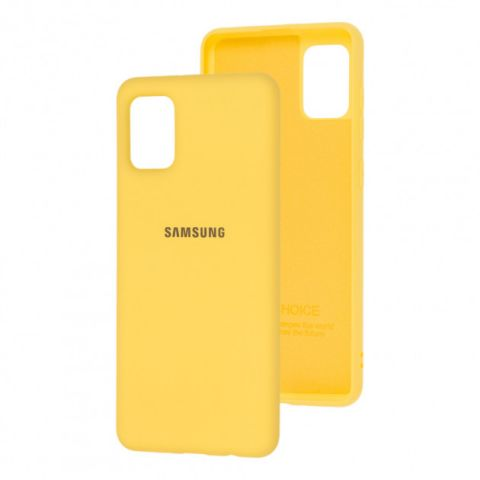 Чехол для Samsung Galaxy A31 (A315) Silicone Full-Yellow