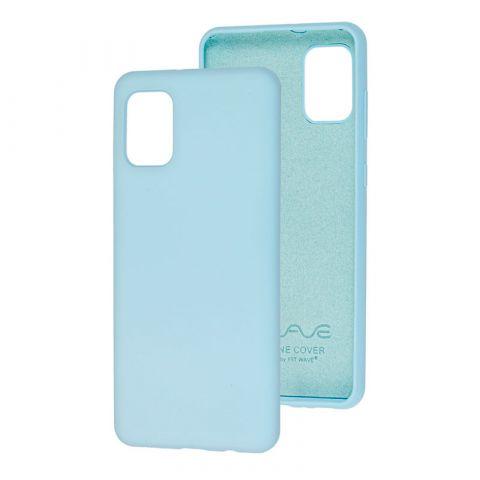 Чехол для Samsung Galaxy A31 (A315) Wave Colorful-Light Blue
