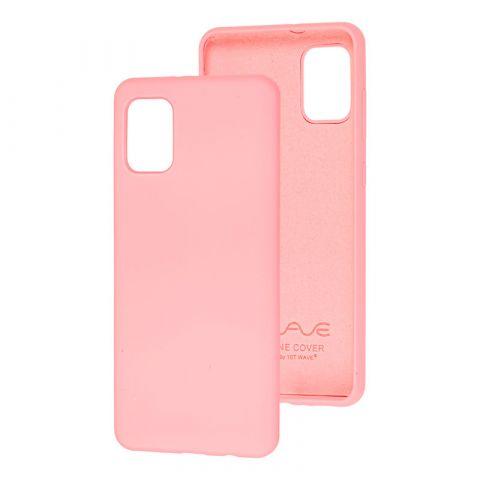 Чехол для Samsung Galaxy A31 (A315) Wave Colorful-Light Pink