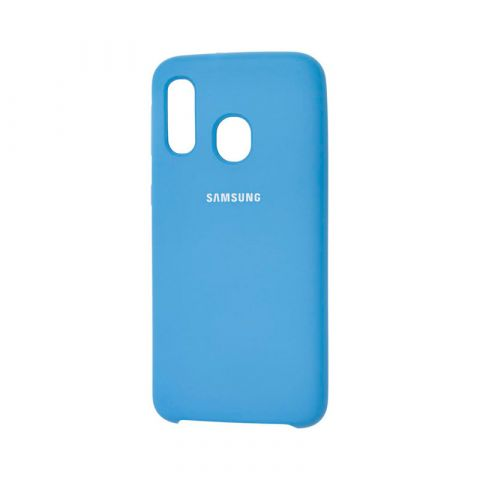 Чехол для Samsung Galaxy A40 (A405) Soft Touch Silicone Cover-Blue Cobalt