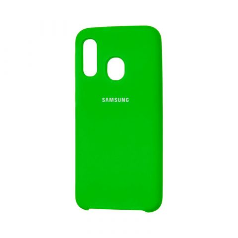 Чехол для Samsung Galaxy A40 (A405) Soft Touch Silicone Cover-Green