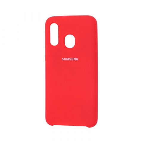 Чехол для Samsung Galaxy A40 (A405) Soft Touch Silicone Cover-Red