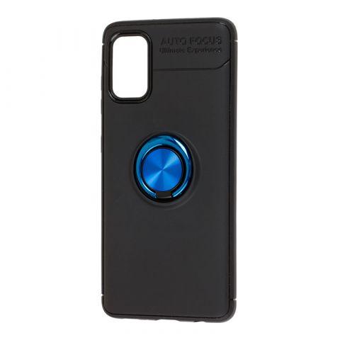 Чехол для Samsung Galaxy A41 (A415) Deen ColorRing с кольцом-Black/Blue