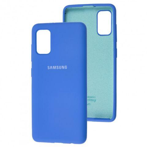 Чехол для Samsung Galaxy A41 (A415) Silicone Full-Light Blue